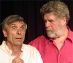 "David Adamson and David Crowe in Tagora's production of ""the Bear"""