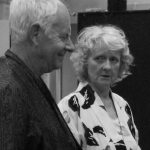 "Adrian Butler and Tina Mulcahy in rehearsal for ""Harlequinade"""