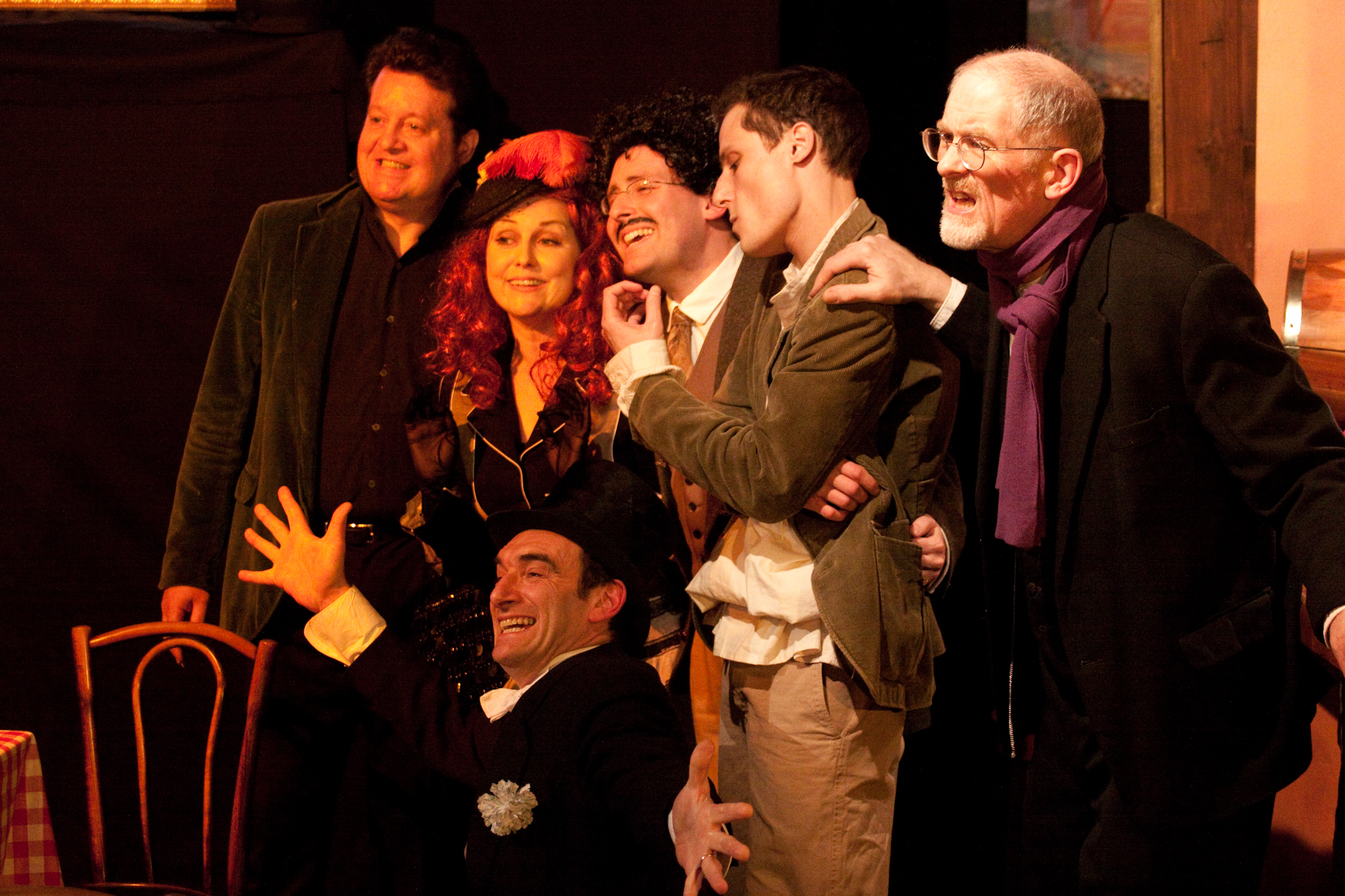Picasso at the Lapin agile: the Camionneur cast