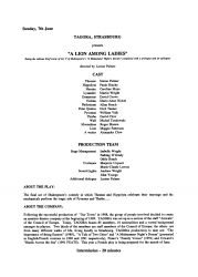 A Lion among Ladies: FEATS programme page