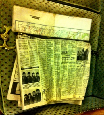 Old map & newspaper(s)