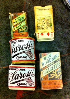 Old time chocolate, cards & cigarettes (around 1915)
