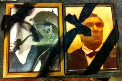 Frames, black ribbons
